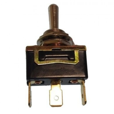 Ключ трипозиционен ON-OFF-ON 3 SCREWS, 12V/25A, М9.5 mm - GS11122