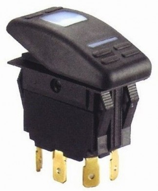 Ключ трипозиционен - ON-OFF-Mom ON LED - 5 ПИНА - GS11135