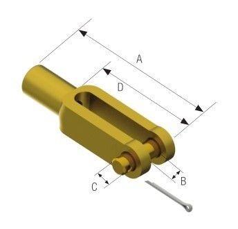 НАКРАЙНИК ЖИЛО 6mm (1/4-28) — 339025 PRETECH